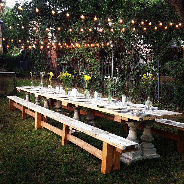20 ft picnic table. Reclaimed wood. A Chris Ossenfort design .