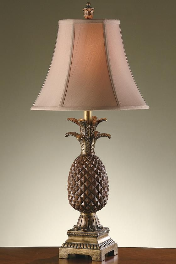 Pineapple Table Lamp - Pineapple Lamp - Tropical Table Lamps .