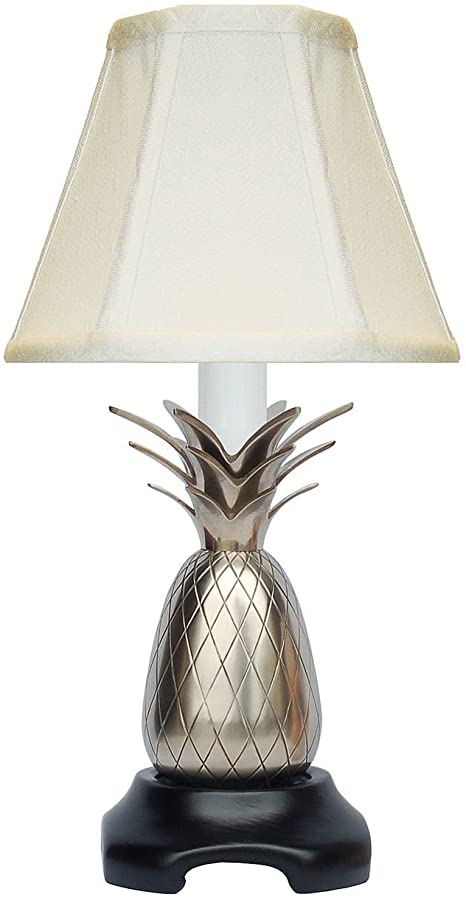 Table Lamps - Savannah Pineapple Accent LAMP - Pewter Finish - Off .