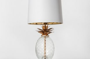 Glass Pineapple Table Lamp Brass - Opalhouse™ : Targ
