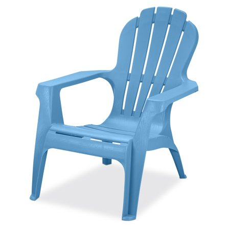 US Leisure Resin Adirondack Plastic Patio Furniture Chair, Blue .