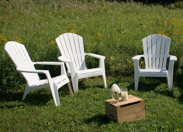 White Plastic Adirondack Chairs | Plastic garden furniture .