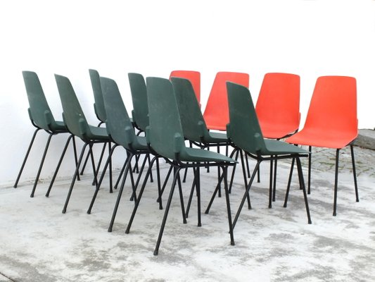Vintage Plastic Chairs from Fantasia France, 1960s, Set of 12 for .
