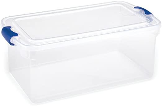 Amazon.com - HOMZ 64 Quart Latching Bin Clear Storage Container .