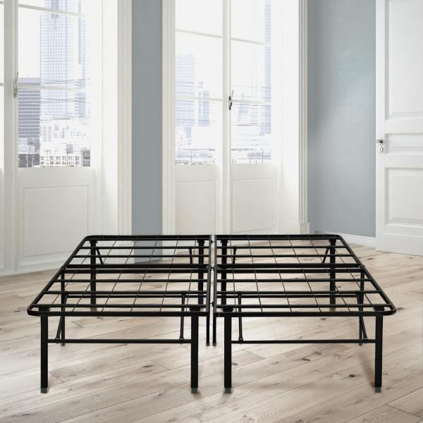 Rest Rite 18 in. Full Metal Platform Bed Frame HDBB441DB - The .