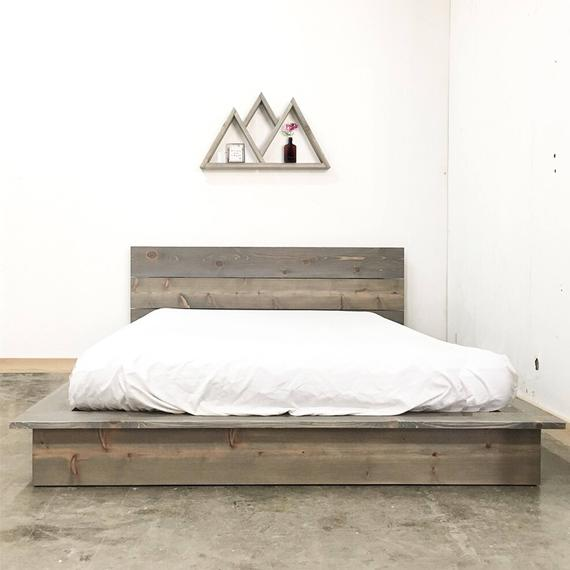 Low Pro Bed Rustic Modern Low Profile Platform Bed Frame and | Et
