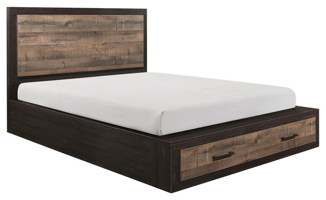Porter Platform Bed With Storage - Rustic - Platform Beds - by .