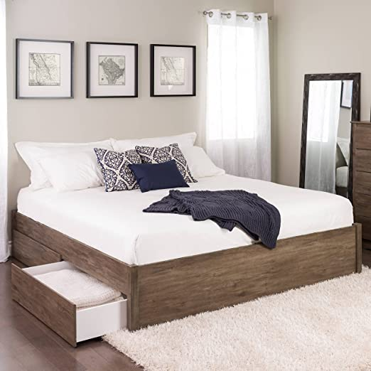 Amazon.com - King Select 4-Post Platform Bed with 4 Drawers .