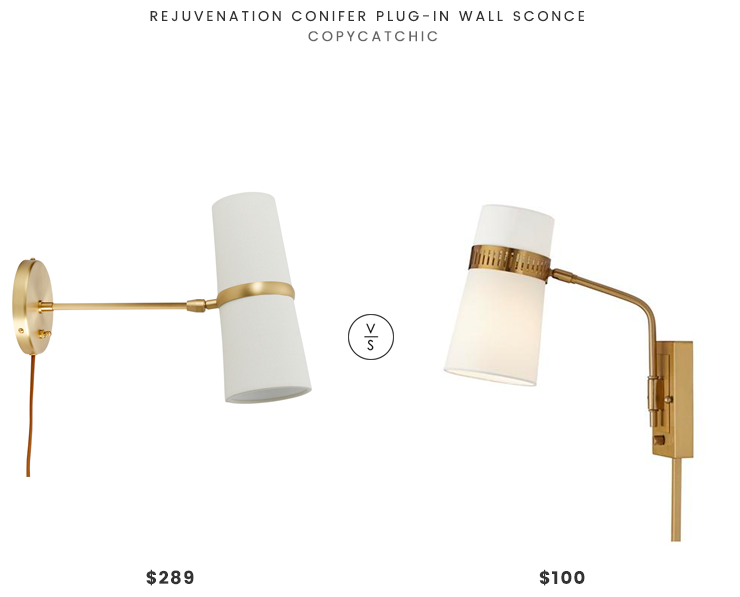 Daily Find | Rejuvenation Conifer Plug-In Wall Sconce - copycatch