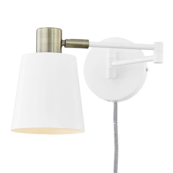 Light Society Alexi Plug-In Wall Sconce in White LS-W280-WH - The .
