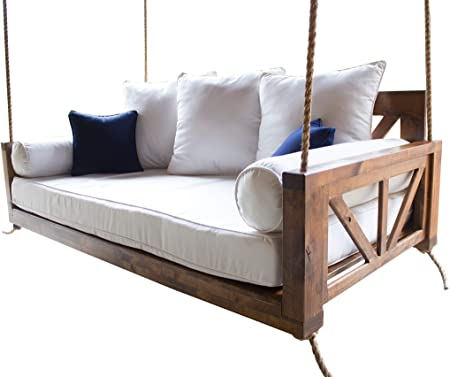 Amazon.com : JAMES + JAMES Avery Porch Swing Bed (Swing Size .