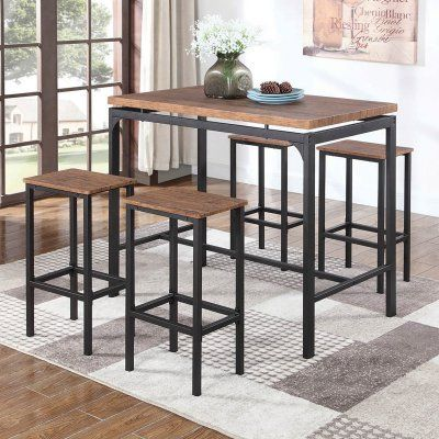 Coaster Furniture 5 Piece Rectangular Pub Table Set | Counter .