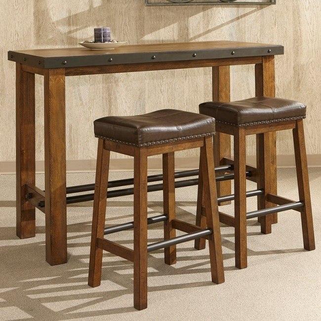 Taos Pub Table Set by Intercon Furniture | FurniturePi
