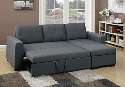 Amazon.com: 1PerfectChoice Modern 2 pcs Sectional Sofa Pull-Out .