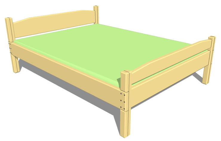 Queen size bed pl