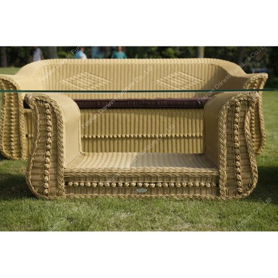China Classic Garden Furniture Outdoor PE Wicker Rattan Patio Sofa .