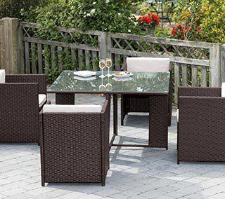 Santona Rattan Garden Furniture Set 7 Piece - Home Store + More .