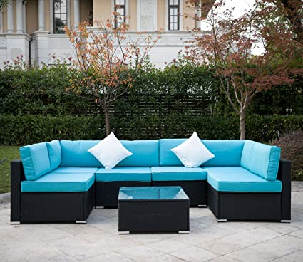 Amazon.com : MeiYi Outdoor Rattan Patio Garden Furniture PE Wicker .