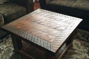 "Amazon.com: ""The Old Seattle Square"" Reclaimed Wood Coffee Table ."