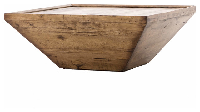 """Abby Rustic Reclaimed Wood Square Coffee Table 42"""" - Rustic ."""