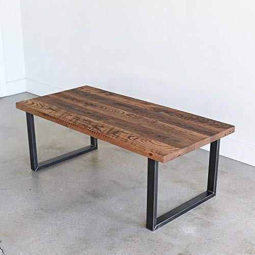 Amazon.com: Reclaimed Wood Coffee Table with Industrial U-Shaped .