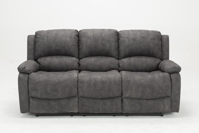Denver 3 Seater Recliner Sofa Grey – The Sofa Gro