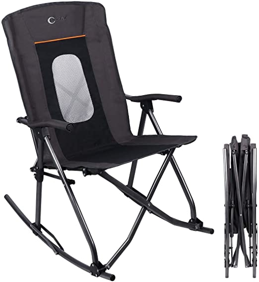 Amazon.com: PORTAL Oversized Quad Folding Camping Rocking Chair .