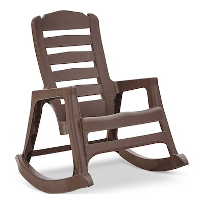Adams Mfg Corp Stackable Plastic Rocking Chair(s) with Solid Seat .