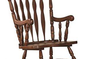 Amazon.com: Windsor Rocking Chair Medium Brown: Kitchen & Dini