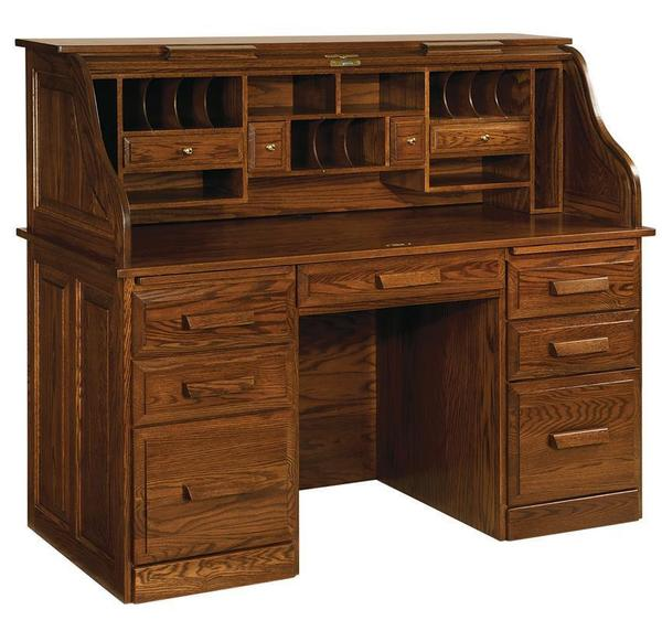 Classic Farmer's Rolltop Desk from DutchCrafters Amish Furnitu