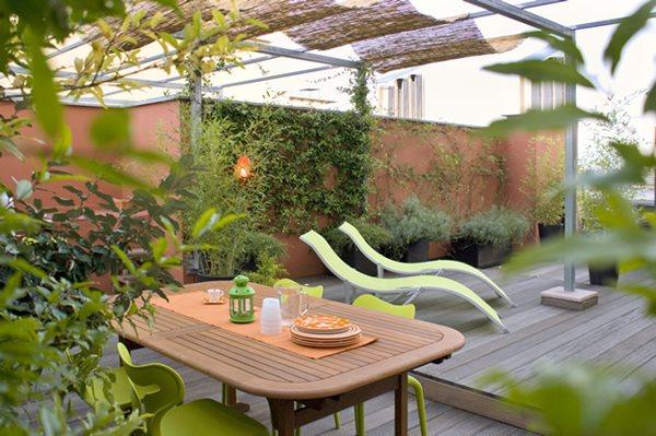 Italy: Green Terrace Roof Garden - Gallery   Garden Desi