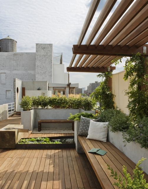 East Village Roof Garden - Traditional - Landscape - New York - by .