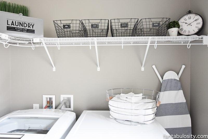 DIY Laundry Room Shelving & Storage Ideas - Fantabulosi