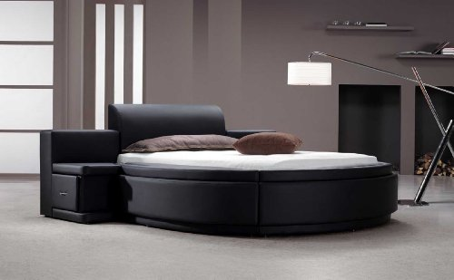 Luxurious Round Leather Beds for Sal
