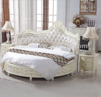 Luxury Wooden Round Bed,Wood Double White Round Bed - Buy .