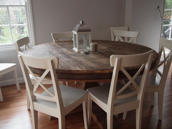 Lovely round kitchen table | Round kitchen table, Kitchen table .