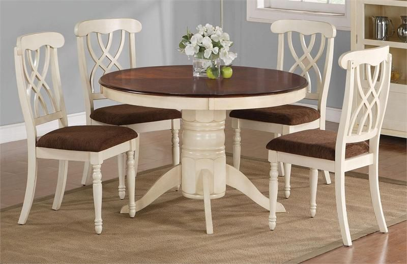 "42"" Lander Oak Buttermilk Round Kitchen Table Set 