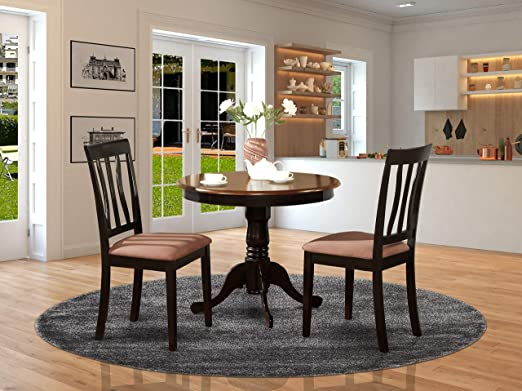 Amazon.com - 3 PC Kitchen Table set-round Kitchen Table plus 2 .