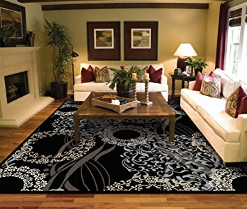 Amazon.com: Modern Black Area Rugs for Living Room Area Rugs 5x7 .