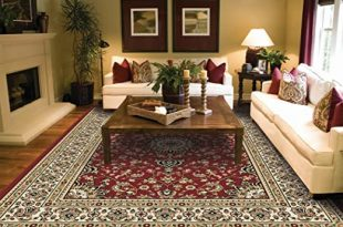 Amazon.com: Large Rugs for Living Room Red Traditional Area Rugs .