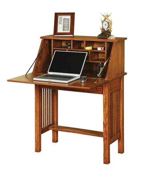 Mission Style Secretary Desk by DutchCrafters Amish Furnitu
