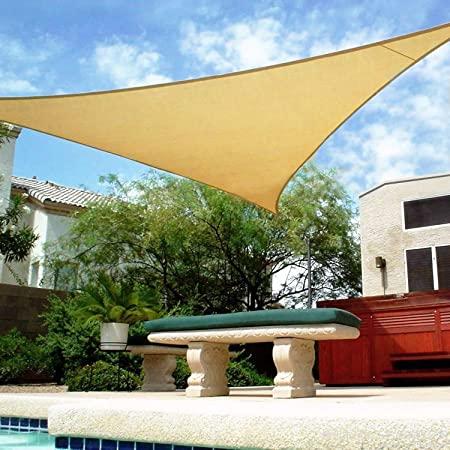 Amazon.com : Shade&Beyond 16' x 16' x 16' Sand Color Triangle Sun .