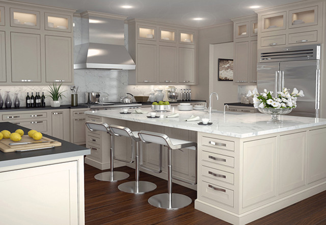 Shaker Kitchen Cabinet Interiors Using The Dominant White .