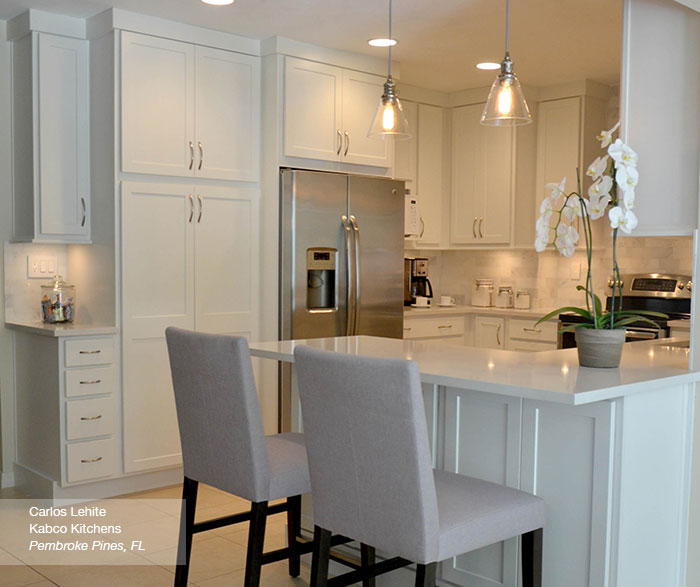 White Shaker Kitchen Cabinets - Homecrest Cabinet