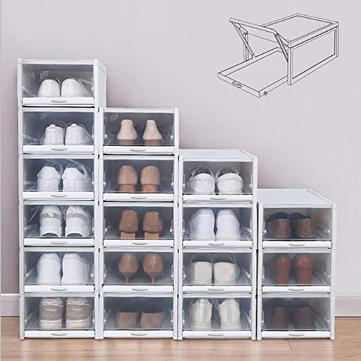 Amazon.com: Matoen 3pcs Storage Shoes Box Push Drawer Type Shoe .