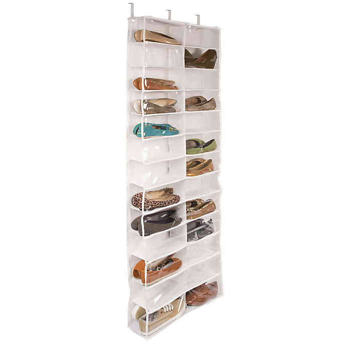 Closetware Clear Over-the-Door 26-Pocket Shoe Organizer | Bed Bath .