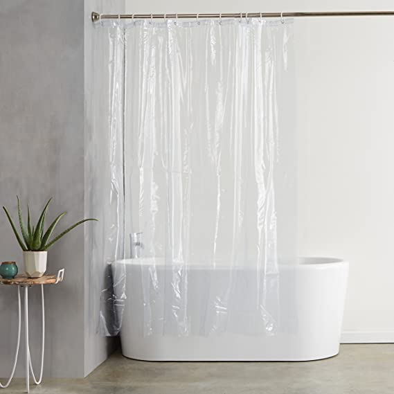 Amazon.com: AmazonBasics Heavyweight Vinyl Shower Curtain Liner .