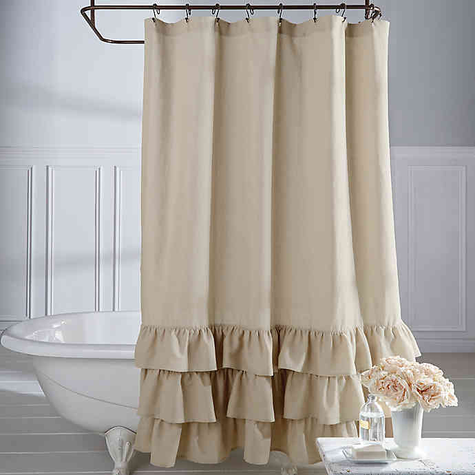 Veratex Vintage Ruffle Shower Curtain | Bed Bath & Beyo