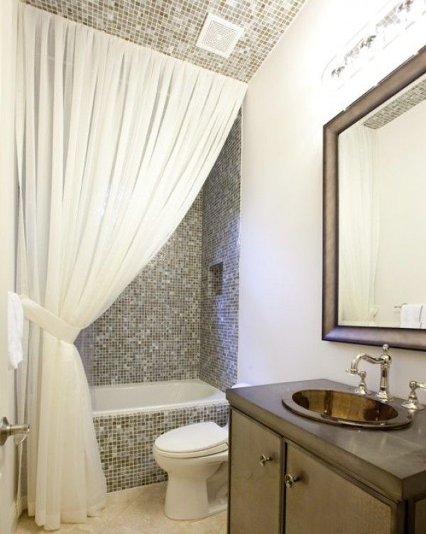 Making Your Bathroom Look Larger With Shower Curtain Ideas .