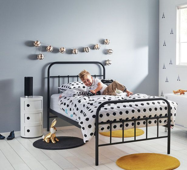Black metal frame bed Boys will be Boys Fantastic Furniture .